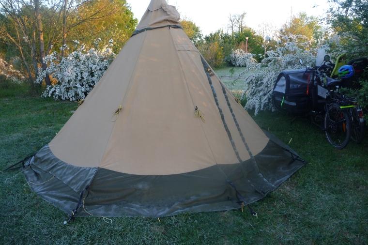 givre sur tente
